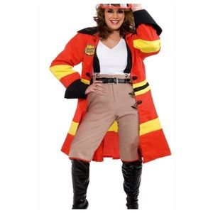 Other - Blazing Beauty Firefighter Costume Plus Size